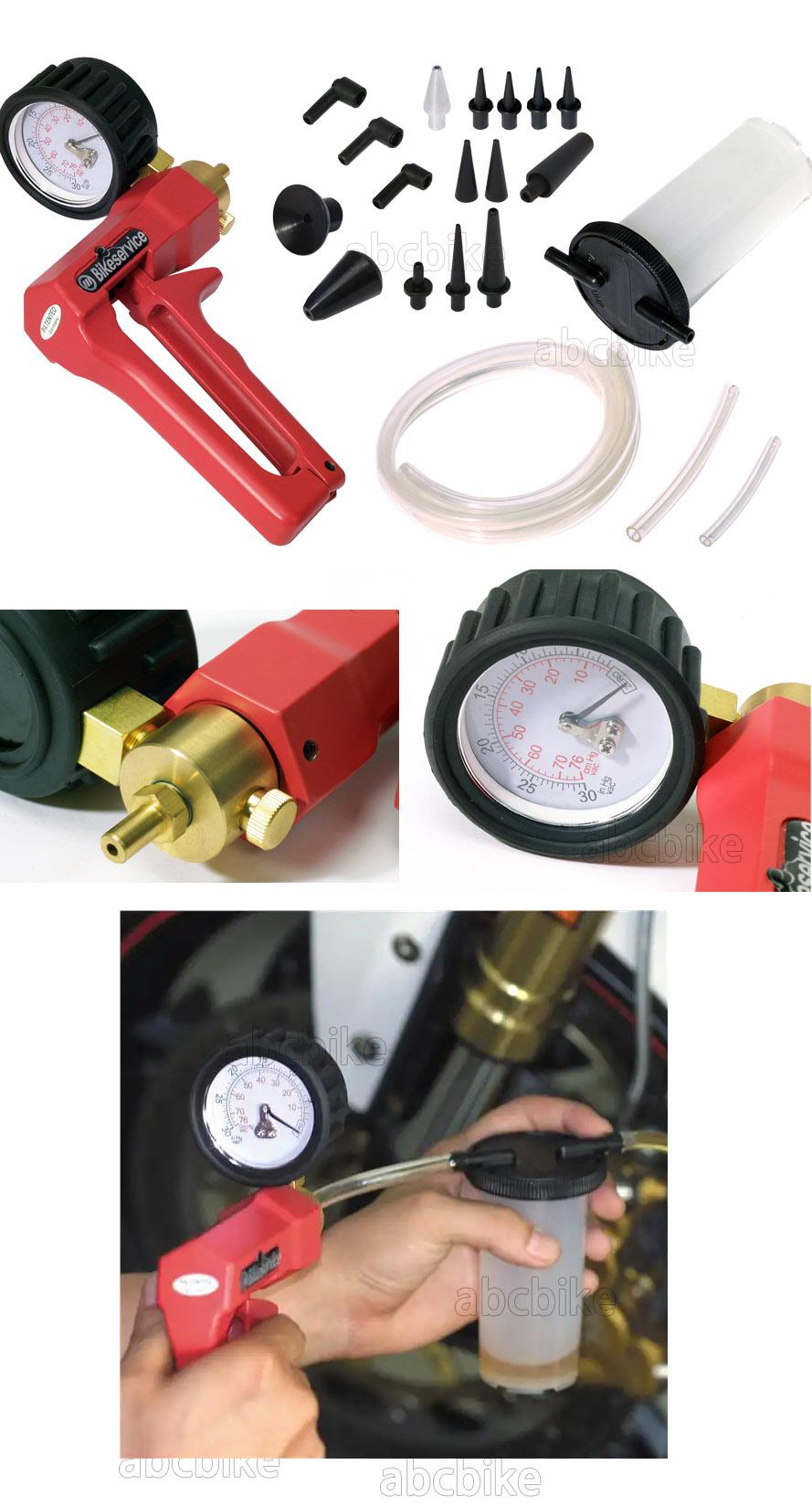 BIKESERVICE(바이크서비스) 진공 펌프 및 브레이크 브리더 키트( 브레이크액 교환기 ) BS5582